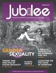 Jubilee - Spring 2013 - Ezra Institute for Contemporary Christianity
