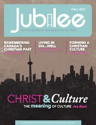 Jubilee - Fall 2011 - Ezra Institute for Contemporary Christianity
