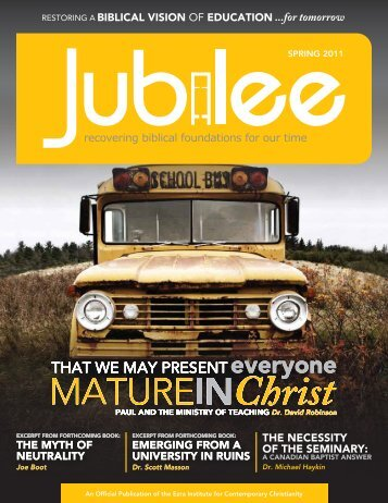 Jubilee - Spring 2011 - Ezra Institute for Contemporary Christianity