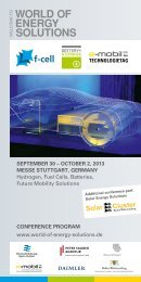 September 30 – OctOber 2, 2013 meSSe Stuttgart, germany ... - F-Cell
