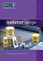 Isolator Range For damp, contaminated and protected ... - F Ball