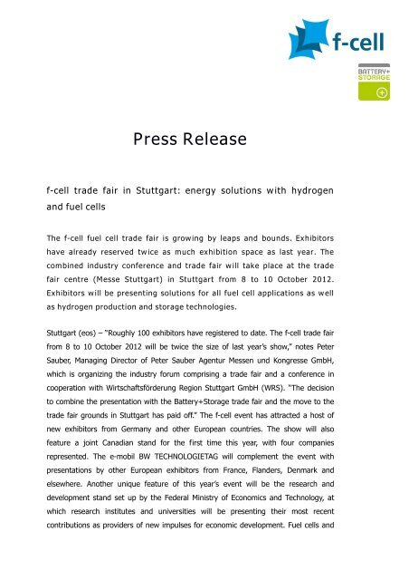 Press Release - F-Cell