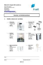 Bitte bis 31. August 2012 zurück an: Messebau- und ... - F-Cell