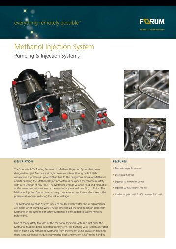 Methanol Injection System - F-e-t.com