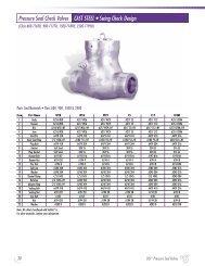 Pressure Seal Check Valves CAST STEEL • Swing Check Design
