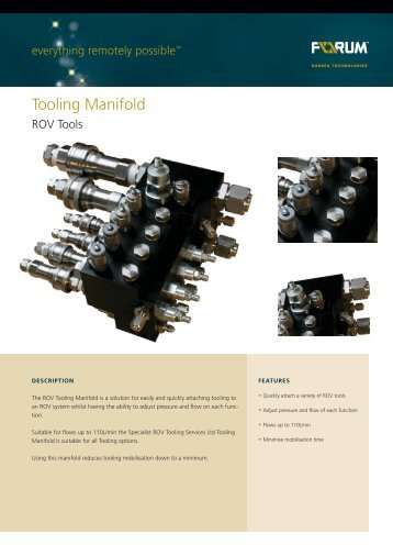 Tooling Manifold - Forum Energy Technologies