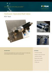 Hydraulic Operated Ball Valve - Forum Energy Technologies