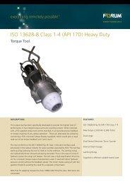 ISO 13628-8 Class 1-4 (API 17D) Heavy Duty - Forum Energy ...