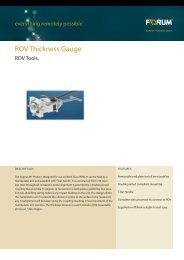 ROV Thickness Gauge