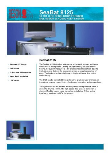 SeaBat 8125 - F-e-t.com