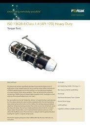 ISO 13628-8 Class 1-4 (API 17D) Heavy Duty
