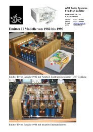 Emitter II Modelle von 1982 bis 1990 - ASR Audio Systeme Friedrich ...