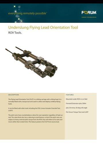 Underslung Flying Lead Orientation Tool