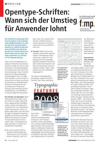 Opentype-Schriften - Fachverband Medienproduktioner