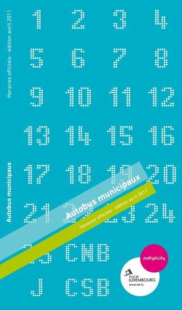 Horaire-Tableau-Ligne - version 01.04.2011