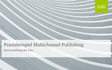 Praxisbeispiel Multichannel Publishing