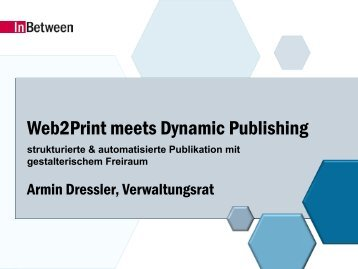 Web2Print meets Dynamic Publishing