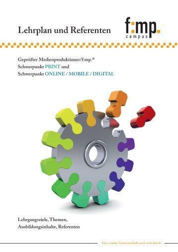 Lehrplan und Referenten - Fachverband Medienproduktioner