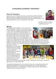 Living library workshop i Tammerfors