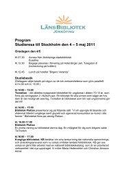 Program Studieresa till Stockholm den 4 – 5 maj 2011
