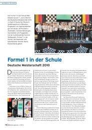 Formel 1 in der Schule Deutsche Meisterschaft 2010