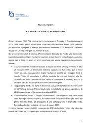 F2i: SGR in utile per 3,1 milioni di euro