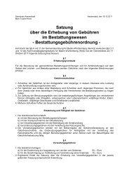 Satzung über die Erhebung von Gebühren im ... - Assamstadt