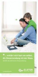ELSTER - Die Vorteile der elektronischen Steuererklärung - Finanzamt
