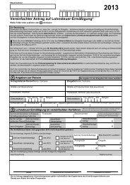 Vereinfachter Antrag auf Lohnsteuerermässigung 2013 - Finanzamt