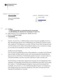 Verfahrensgrundsätze zur Aktualisierung der Taxonomien