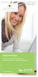ELSTERformular - Das kostenlose Programm der ... - Finanzamt