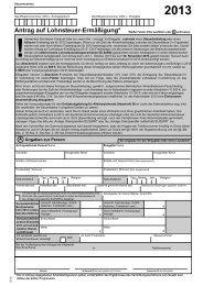 Antrag auf Lohnsteuerermässigung 2013 - Finanzamt