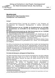 Modellprojekt - Albert-Schweitzer-Schule