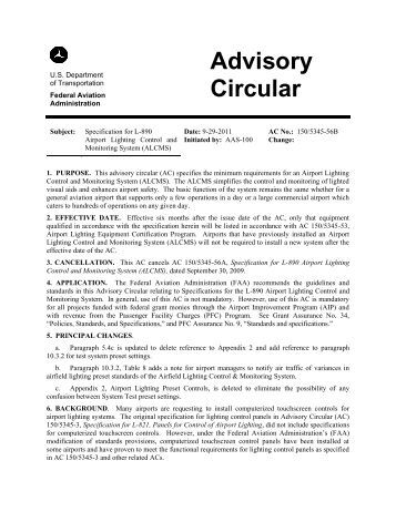 AC 150/5345-56B, Specification for L-890 Airport Lighting ... - FAA