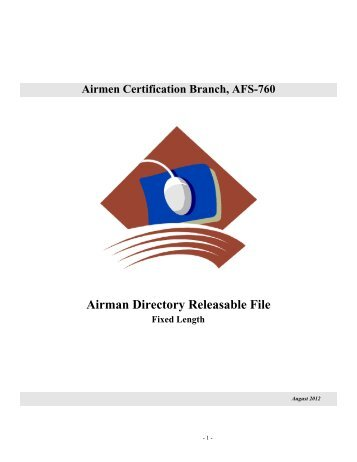 Airman Directory Releasable File - FAA