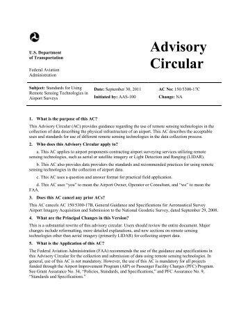 AC 150/5300-17C - FAA