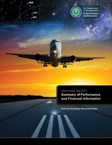 FAA FY 2011 Summary of Performance and Financial Information
