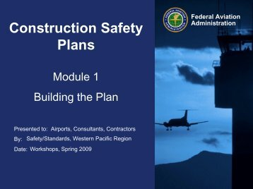Construction Safety Plans - FAA