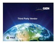 Third-party vendor progress report - FAA