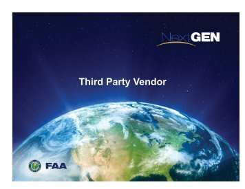Third-party vendor progress report - FAA