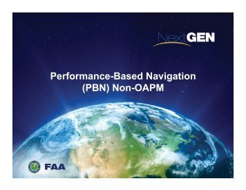 PBN progress report - FAA
