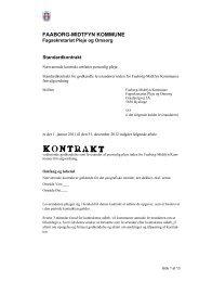 Standardkontrakt for leverandører af pleje. - Faaborg-Midtfyn ...