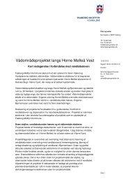 Vådområdeprojektet langs Horne Mølleå Vest - Faaborg-Midtfyn ...