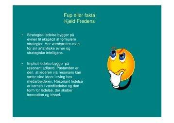 Fup eller fakta Kjeld Fredens - Faaborg-Midtfyn kommune