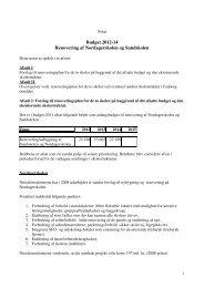 Budget 2012-14 Renovering af Nordagerskolen og Sundskolen