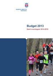 Budget 2013 (pdf-fil åbner i nyt vindue) - Faaborg-Midtfyn kommune
