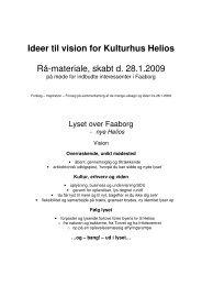 Ideer til vision for Kulturhus Helios Rå-materiale, skabt d. 28.1.2009