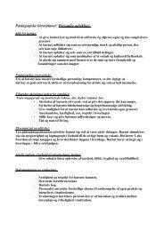 Pædagogiske lærerplaner - Faaborg-Midtfyn kommune