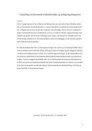Vejledning om kommunal kvalitetskontrakt og opfølgningsredegørelse