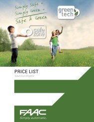 Download NEW Product Catalog & Price List 2013 - FAAC USA